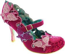 Irregular Choice Swallow Tail Women's Pink Buckle Strap Mary Jane High Heels New