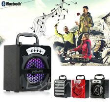 1Pc Outdoor Portable Bluetooth Speaker Super Bass Subwoofer +USB/TF/AUX/FM Radio
