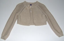 EUC Baby Gap girls solid tan cropped knit sweater cardigan sz 2T