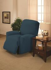 COBALT RECLINER COVER-ALSO COMES IN COUCH LOVESEAT CHAIR SLIPCOVERS WASHABLE !!!