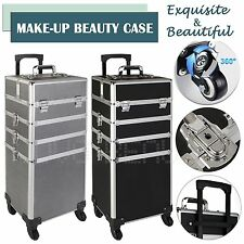 Blue Cosmetic Vanity Case Makeup Nail Storage Hairdressing Beauty Trolley Box
