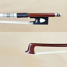 Pernambuco bow Straight balance violin bow Abalone slide Ebony frog leather grip