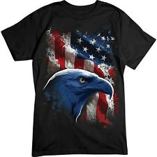 American Icon - Bald Eagle & Flag T-Shirt, Patriotic, Military Shirt, Biker T