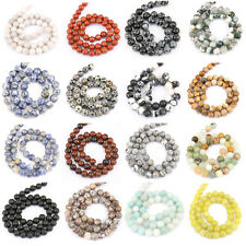 Wholesale Round Agate Gemstone Loose Beads DIY Pendant Necklace Jewelry Gifts