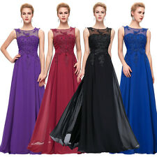 Noble Long Wedding Guest Bridesmaids Gown Ball Chiffon Evening Prom Party Dress