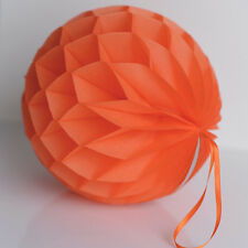 Orange color tissue paper Honeycomb - wedding party decorations