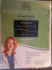 QUEEN-PILLOW PROTECTOR--STOPS BED BUGS DUSTMITES ALLERGEN WATERPROOF-ZIPPERED