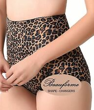 Ladies FIRM CONTROL Shapewear Shaper High Waist Girdle Briefs Leopard Print