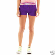 Arizona Bedford Cord Shorts Juniors Size 0, 15 New Msrp $34.00 Venus Violet