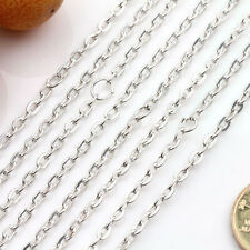 Lots 5/20Pcs Cable Open link Metal Chain DIY Findings (Each ring about :4x3mm)