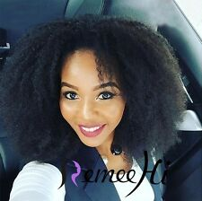 """Beauty Woman Lace Full/Front Wig 12""""-22"""" Afro Curl 100% Indian Remy Human Hair"""