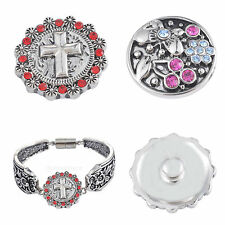 fashion fit for bracelets Rings Rhinestone noosa snaps charm button jewelry