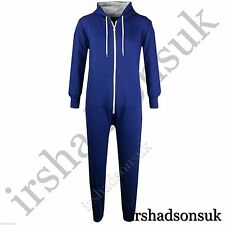 KIDS GIRLS BOYS PLAIN ROYAL BLUE Onesie ALL IN ONE SLEEPSUIT JUMPSUIT SIZE 2-13Y