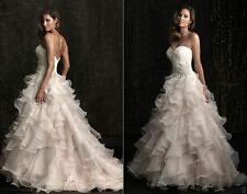 New Lace Organza Wedding Dress Bridal Gown Party Prom Formal Gown Pageant Custom