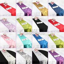"5X Taffeta Pintuck Table Runner 12""x108"" Wedding Party Banquet Dinning Decor"