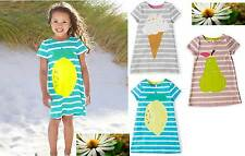 Mini Boden girls stripy logo jersey summer sun dress, 3 colours all sizes NEW