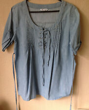 BEING CASUAL @ Simply Be IN DENIM BLUE COTTON SIZE 12/14uk
