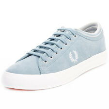 Fred Perry Kendrick Tipped Cuff Mens Fabric Blue Trainers New Shoes All Sizes