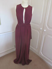 BNWT SOLD OUT ASOS OXBLOOD STRETCHY PLUNGE FRONT MAXI DRESS MANY SIZES RRP 55.00