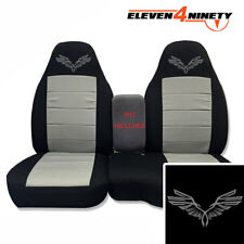 91-15 Ford Ranger Blk Silver 60-40 Seat Covers W Wings Choose From 9 colors