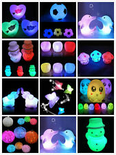 7 Colors Changing LED Night Light Decoration Candle Lamp Nightlight Holiday HF