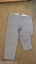 MARKS AND SPENCER NEW CASUAL SLIM LEG MULTI COLOUR CROPPED TROUSERS SIZE 16
