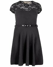 New Plus Size Black Lace Skater Dress Emily for Simply Be