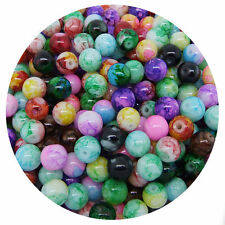 Hot Mixed Round Glass Glossy Painted Pearl Spacer Beads Jewelry Findings 6-12mm
