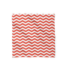 Chevron Red Satin Style Scarf - Bandana in 3 sizes