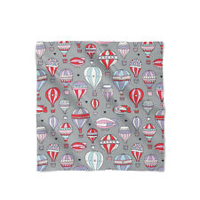 Hot Air Balloons on Grey Satin Style Scarf - Bandana in 3 sizes