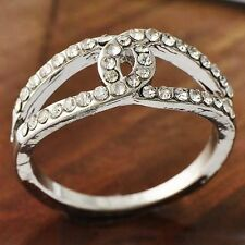 Beautiful Womens White Gold Clear CZ Love Band Ring All Size 5-7 9 Ring