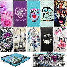 Cute Flip Magnet Stand PU Leather ID Card Wallet Cover Case For Multiple Models