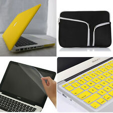 """4in1 Yellow Laptop Matte Hard Case Cover Bag for Macbook Air Pro 11"""" 13"""" 15""""inch"""