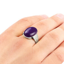 Mans Ring 10k White Gold Natural Purple Amethyst Agate Turquoise Onyx All sizes