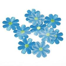 10pcs Embroidered Applique Flower Patch Iron on Sew DIY Craft Clothes Decor