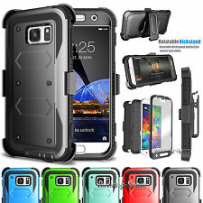 Samsung Galaxy S7 Stand Belt Clip Holster Case Cover W/Built-in Screen Protector