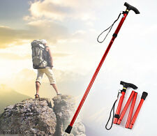 Adjustable Handle Folding Cane Retractable Aluminum Stick Hiking Walking Canes
