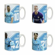 Personalised Manchester Man City Football Club Player Autograph Mug