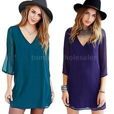 Party Evening Cocktail Short Mini Dress Sexy Women Short Sleeve Blouse Dress