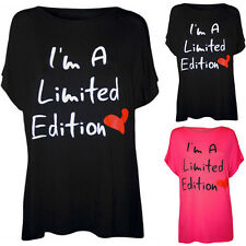 Womens Oversized  Slogan Heart Print T-shirt Short Sleeve Blouse Top Graphic Tee