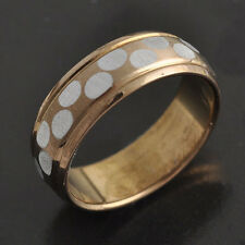 Lovely 9K Gold Filled Womens Mens Band Ring,SZ 6 7 8 9,P0979-P0982