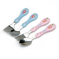 Cute Child Fork Cutlery Fork Spoon 304 Stainless Steel Baby Fork Spoon