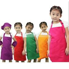 Cute Kids Children Kitchen Baking Painting Apron Baby Art Cooking Craft Bib New
