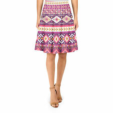 Girly Aztec Tribal Geometric A-Line Skirt Sizes XS-3XL Flared Skirt