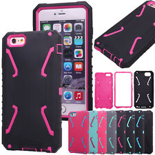 Armor Heavy Duty Shockproof Silicone Hard PC Hybrid Combo Case Cover For iPhone