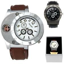 Windproof Casual Military Quartz Men Watch USB Cigarette Cigar Flameless Lighter