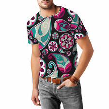 Sassy Paisley Mens Cotton Blend T-Shirt XS-3XL All-Over-Print