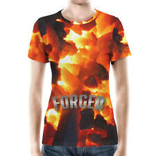 Forged by Fire Women Cotton Blend T-Shirt XS - 3XL Sublimation All-Over-Print