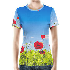 Red Poppies Field Women Sport Mesh T-Shirt XS-3XL Sublimation All-Over-Print