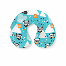 Ski Fun Bears Travel Neck Pillow - Inflatable